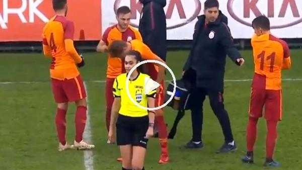 Galatasaray U21 Takım Kaptanı Gökay Güney'in bu hareketi tepki gördü