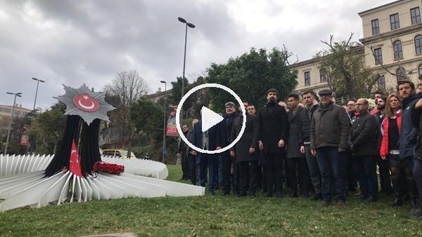 'Beşiktaş şehitlerimiz için anma töreni düzenledi