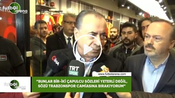"""'Mustafa Cengiz: """"Bunlar bir-iki çapulcu sözleri yeterli değil...."""""""