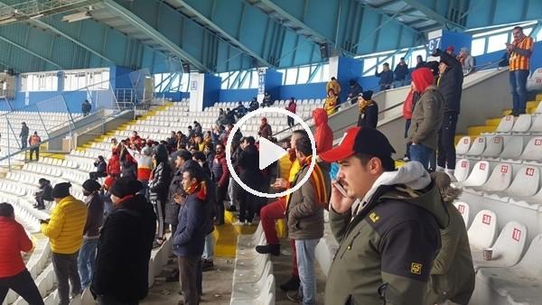 'Kayserispor taraftarı Erzurum deplasmanında...