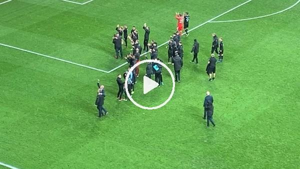 'Malmölü futbolcuların maç sonu sevinci