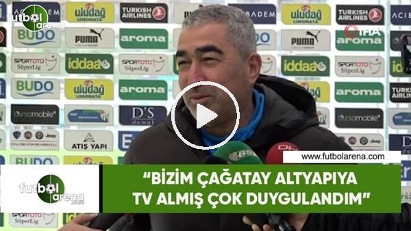"""'Samet Aybaba: """"Bizim Çağatay altyapıya tv almış çok duygulandım"""""""
