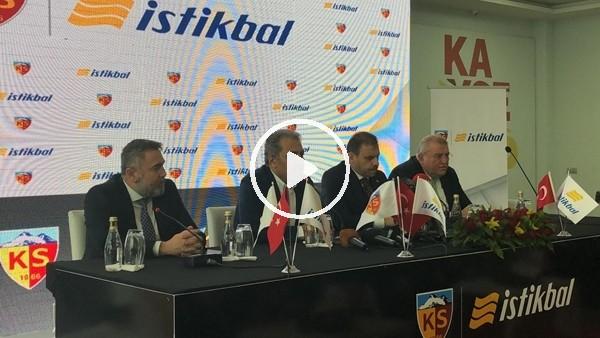 'Kayserispor, İstikbal Mobilya ile sponsorluk anlaşması imzaladı