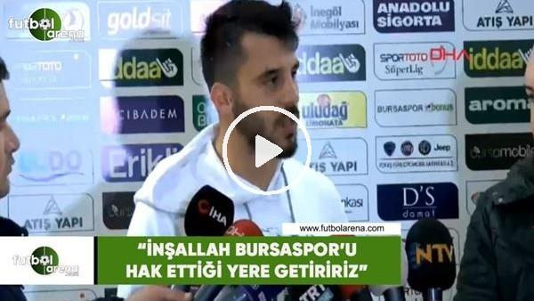 """'Aytaç Kara: """"İnşallah  Bursaspor'u hak ettiği yere getiriz"""""""
