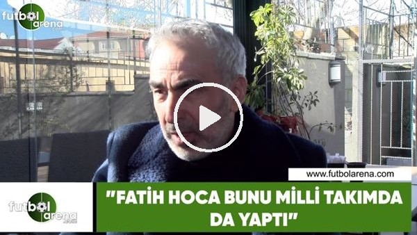 """'Adnan Aybaba: """"Fatih Hoca bunu milli takımda da yaptı"""""""