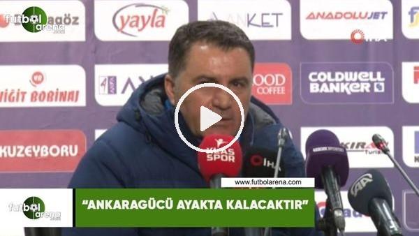 """'Mustafa Kaplan: """"Ankaragücü ayakta kalacaktır"""""""