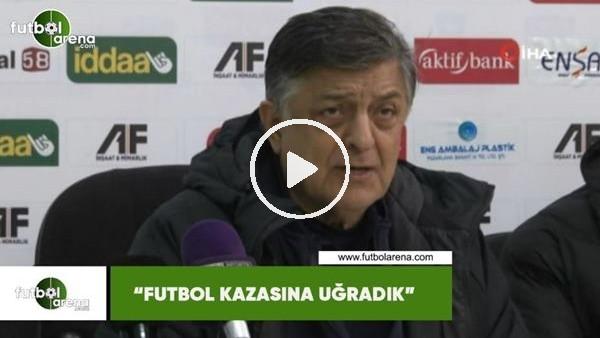 """'Yılmaz Vural: """"Futbol kazasına uğradık"""""""