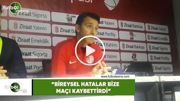 """'Bülent Korkmaz: """"Bireysel hatalar bize maçı kaybettirdi"""""""