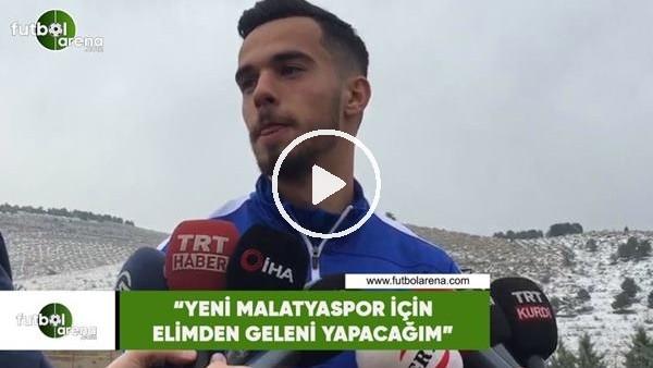 """'Barış Alıcı: """"Yeni Malatyaspor için elimden geleni yapacağım"""""""