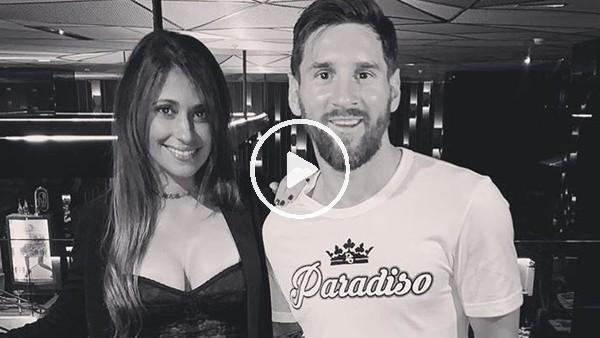 'Messi ve eşinden yeni yıl dansı
