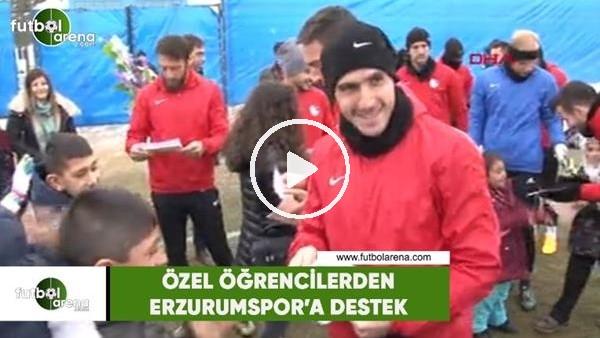 'Özel öğrencilerden Erzurumspor'a destek