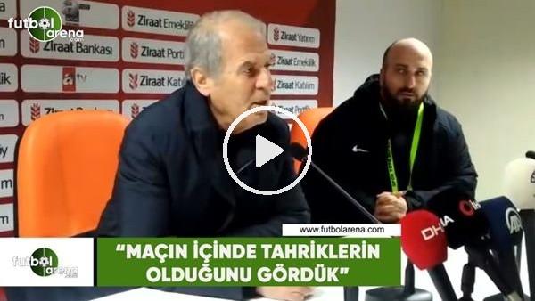 """'Mustafa Denizli: """"Maçın içinde tahriklerin olduğunu gördük"""""""