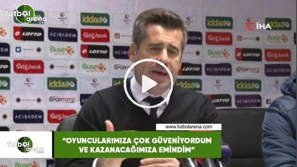 """'Hüseyin Eroğlu: """"Oyuncularıma çok güveniyordum ve kazanacağımıza emindim"""""""