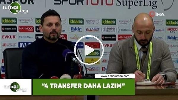 "Erol Bulut: ""4 transfer daha lazım"""