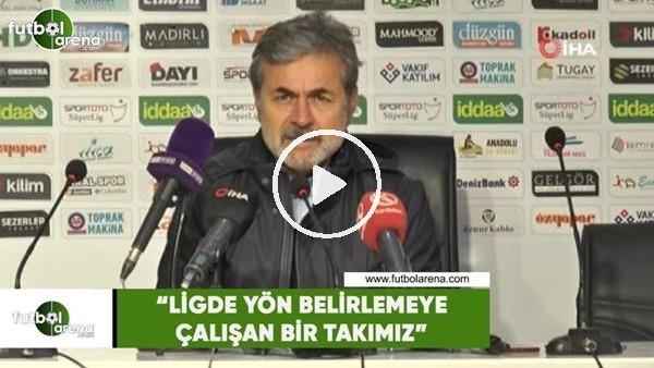 """'Aykut Kocaman: """"Ligde yön belirlemeye çalışan bir takımız"""""""