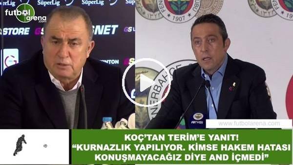 """'Ali Koç'tan Fatih Terim'e yanıt! """"Kurnazlık yapılıyor...."""""""