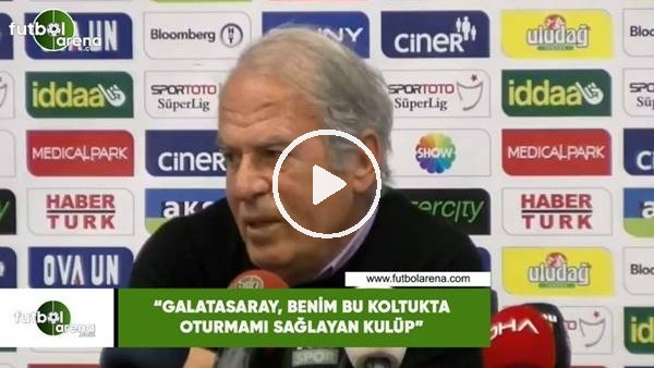 """'Mustafa Denizli: """"Galatasaray, benim bu koltukta oturmamı sağlayan kulüp"""""""