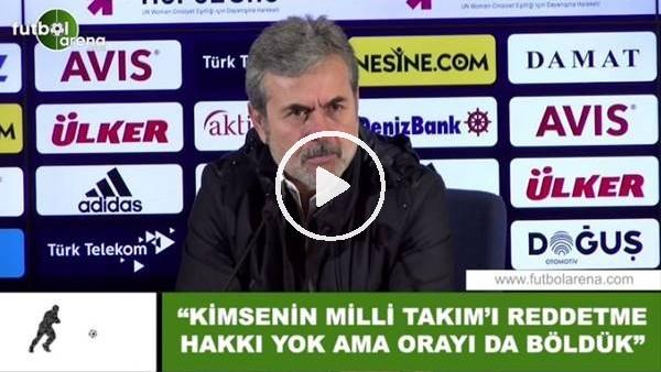 """'Aykut Kocaman: """"Kimsenin Milli Takım'ı reddetme hakkı yok ama orayı da böldük"""""""
