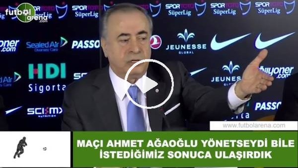 """'Mustafa Cengz: """"Maçı Ahmet Ağaoğlu yönetse bile istediğimiz sonuca ulaşırdık"""""""