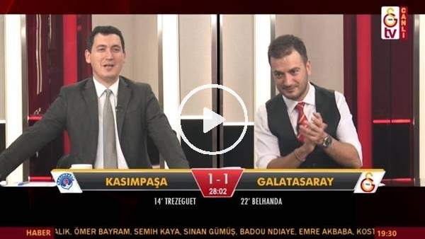 Feghouli'nin golünde GS TV spikerleri