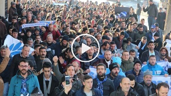 Erzurumspor taraftarından MHK ve TFF'ye protesto