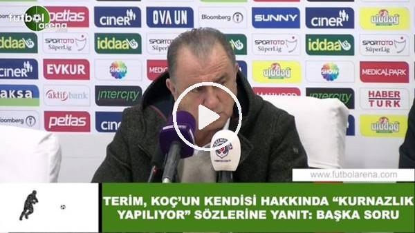 """'Fatih Terim'den Ali Koç'un kendisi hakkında """"kurnazlık yapılıyor sözlerine yanıt! """"Başka soru...."""""""