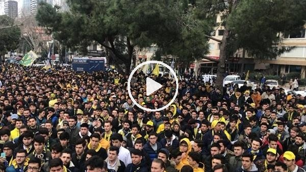 'Fenerbahçe taraftarından TFF'ye protesto yürüyüşü