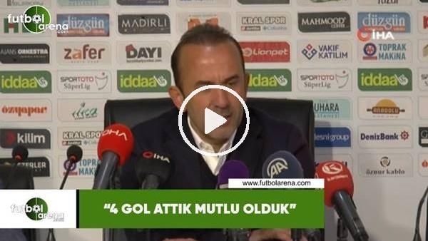 """'Mehmet Özdilek: """"4 gol attık mutlu olduk"""""""
