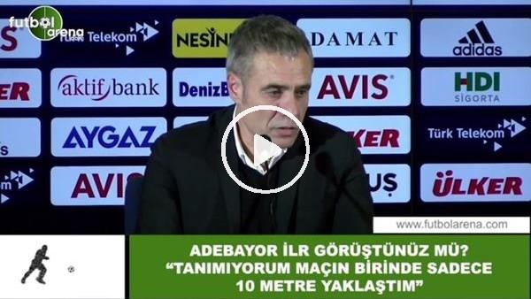 """'Ersun Yanal'dan Adebayor açıklması! """"Sadece maçta 10 metre yaklaştım"""""""