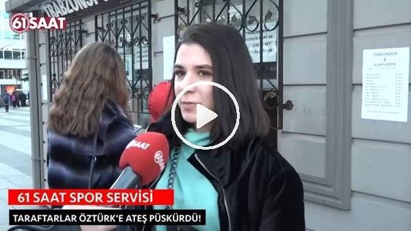 'Trabzonsporlu kadın taraftarın hakem isyanı