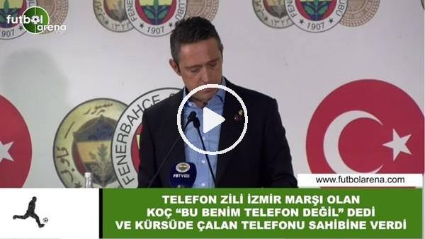 'Telefon zili İzmir Marşı olan Ali Koç, kürsüde çalan telefonu sahibine verdi