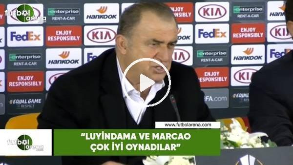 """'Fatih Terim: """"Luyindama ve Marcao çok iyi oynadılar"""""""