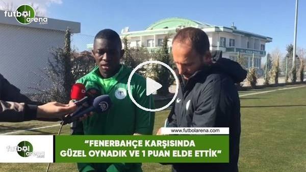 """'Fofana: """"Fenerbahçe karşısında güzel oynadık ve 1 puan elde ettik"""""""