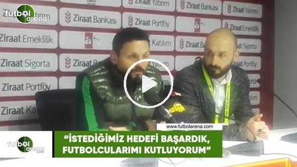 """Erol Bulut: """"İstediğimiz hedefi başardık, futbolcularımı kutluyorum"""""""