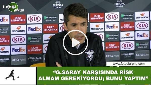 """'Bruno Lage: """"Galatasaray karşısında risk almam gerekiyordu, bunu yaptım"""""""