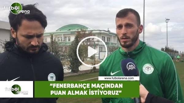 """'Filipovic: """"Fenerbahçe maçından puan almak istiyoruz"""""""