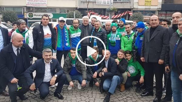 'Çaykur Rizespor Başkanı Hasan Kartal, taraftarlarla bir araya geldi