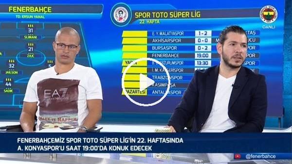 'Alex de Souza, Fenerbahçe - Konyaspor maçı öncesi değerlendirmeler yaptı