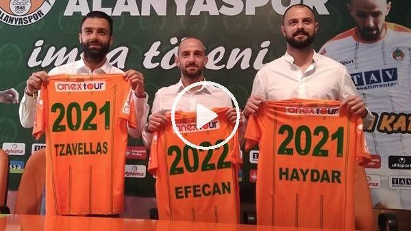 'Aytemiz Alanyaspor, 3 futbolcusuyla sözleşme yeniledi
