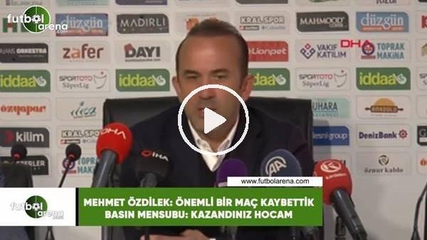 """Mehmet Özdilek, Sivasspor galibiyeti sonrası: """"Önemli bir maç kaybettik"""" dedi"""