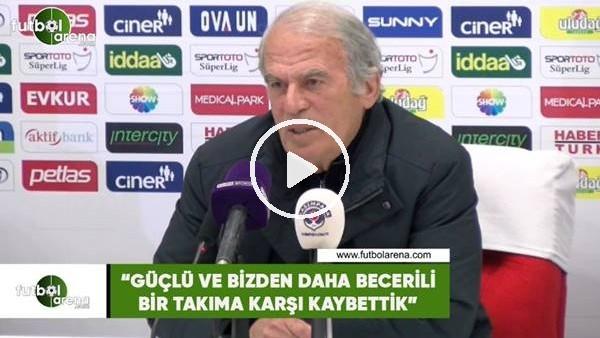 """'Mustafa Denizli: """"Güçlü ve bizden daha becerili bir takıma karşı kaybettik"""""""