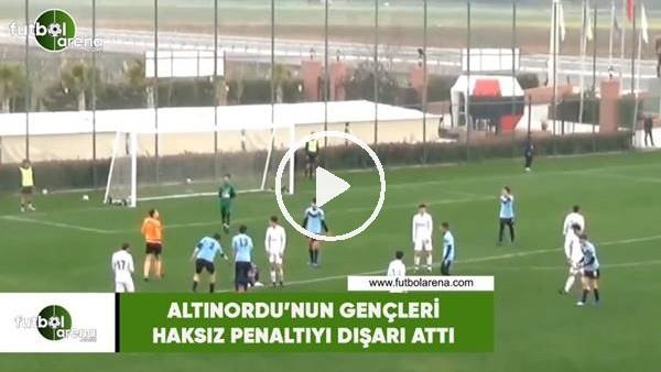 'Altınordu'nun gençleri haksız penaltıyı dışarı attı