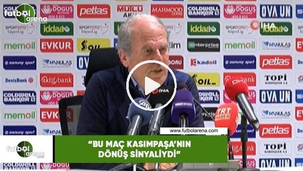 """'Mustafa Denizli: """"Bu maç Kasımpaşa'nın dönüş sinyaliydi"""""""
