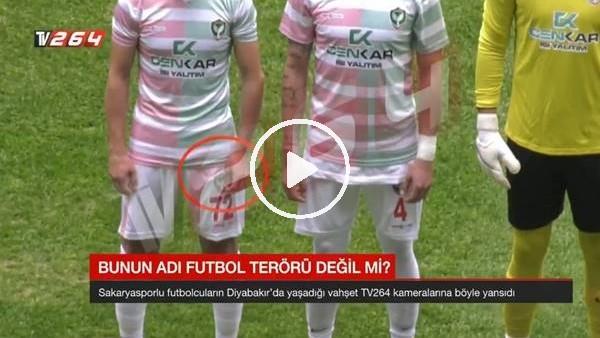 'Amedsporlu futbolcu sahaya kesici aletle çıktı