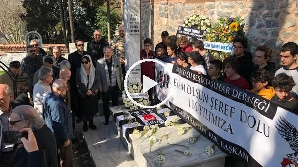 'Beşiktaş, kuruluş gününde Şeref Bey'i kabri başında andı