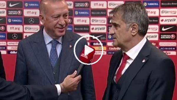 'Cumhurbaşkanı Erdoğan ve Şenol Güneş birlikte röportaj verdi