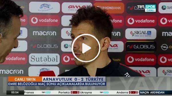 """'Emre Belözoğlu: """"Tecrübe böyle bir şey oluyor"""""""