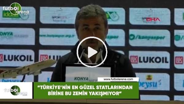 """'Aykut Kocaman: """"Türkiye'nin en güzel statlarından  birine bu zemin yakışmıyor"""""""