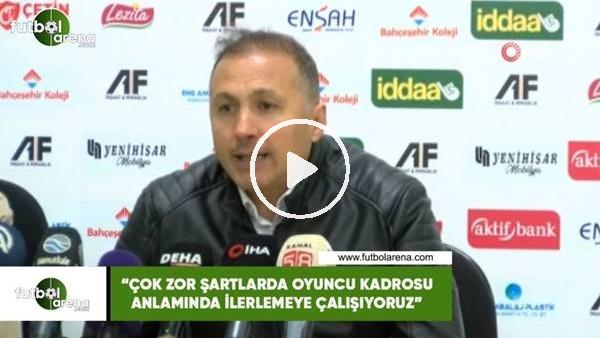 """'Ahmet Taşyürek: """"Çok zor şartlarda oyuncu kadrosu anlamında ilerlemeye çalışıyoruz"""""""