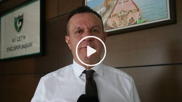 'Denizlispor Başkanı Ali Çetin, Kehinde'nin PFDK'ya sevki hakkında konuştu